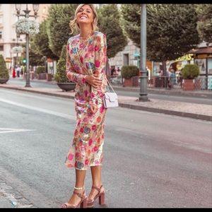 Zara sequin dress sz large
